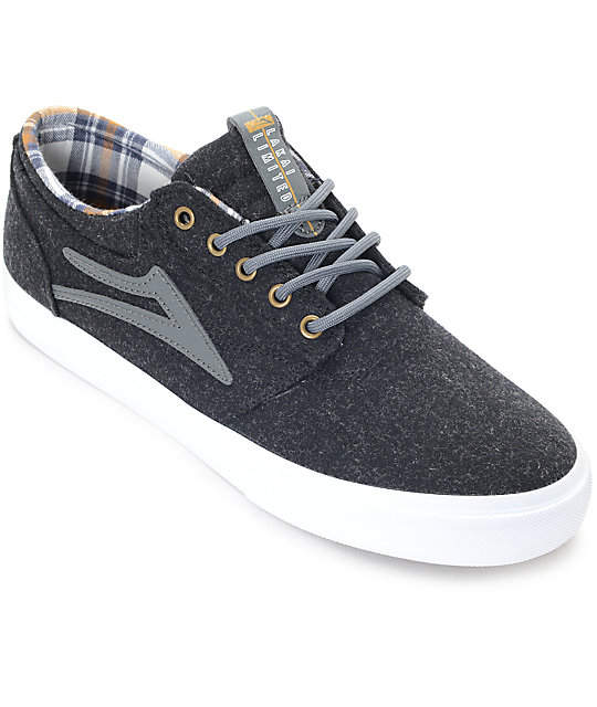 Lakai Griffin Phantom Wool & Plaid Skate Shoes