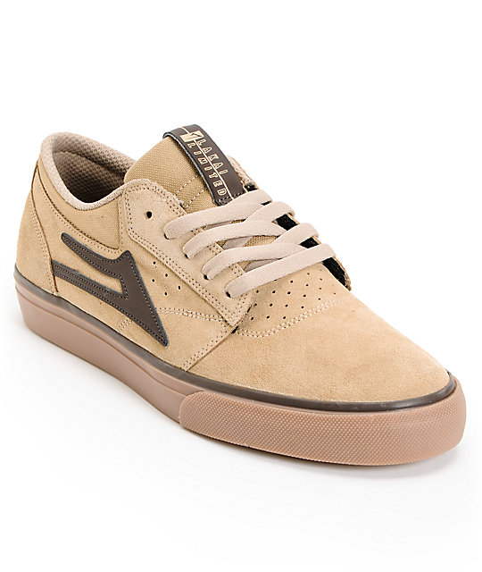 Lakai Griffin Tan, Brown & Gum Suede Skate Shoes
