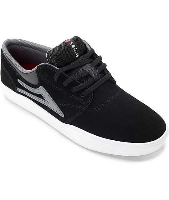 Lakai Griffin XLK Black, Grey & White Suede Skate Shoes