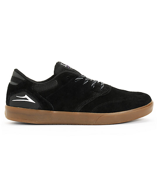 Lakai Guy XLK Black & Gum Suede Skate Shoes