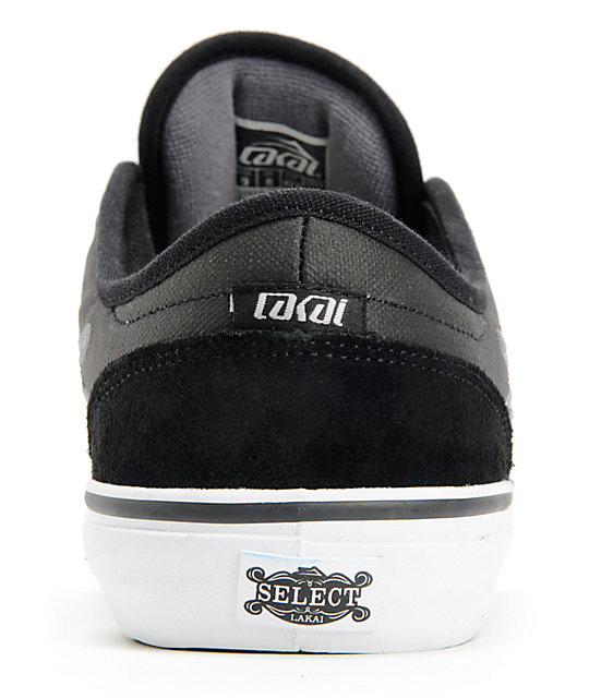 Lakai Judo Black Suede Skate Shoes