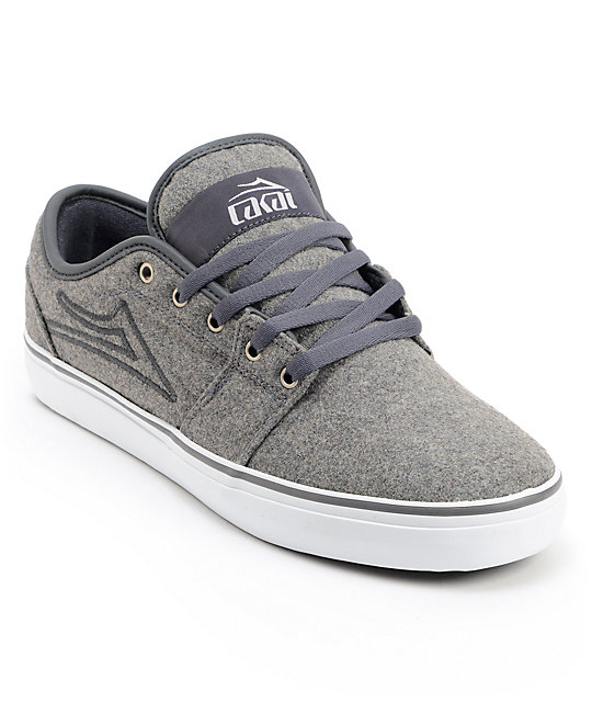 Lakai Judo Grey Wool Skate Shoes