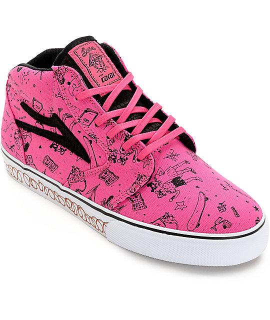 Lakai Lena Dunham Fura Bubble Gum High Top Shoes
