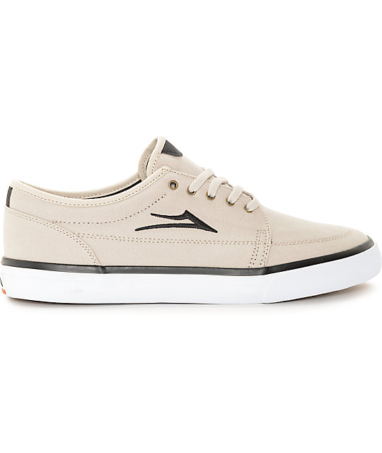 Lakai Madison Cream Canvas Skate Shoes