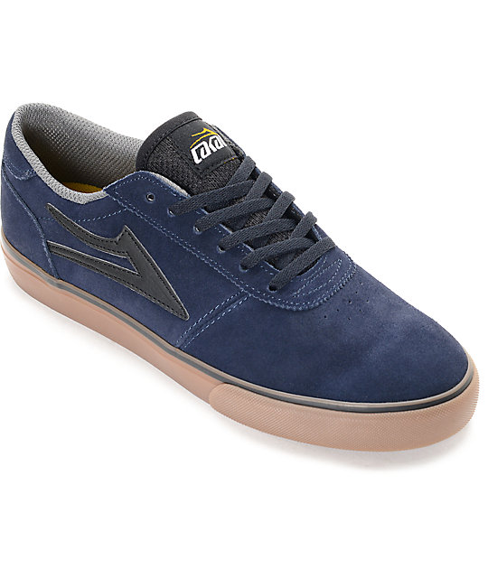 Lakai Manchester Navy & Gum Suede Skate Shoes