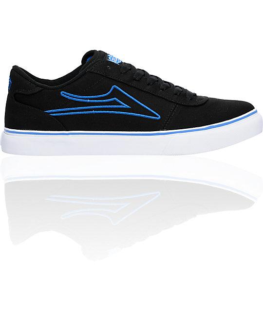 Lakai Manchester Select Black & Blue Canvas Shoes