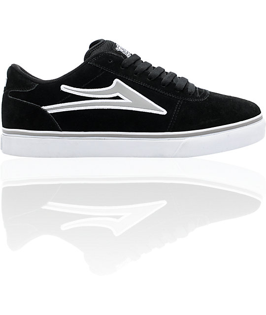 Lakai Manchester Select Black & Grey Skate Shoes