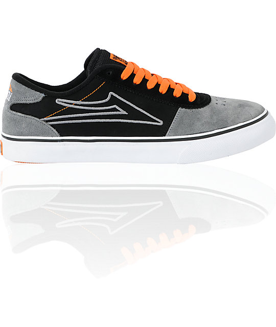 Lakai Manchester Select Black & Grey Suede Shoes