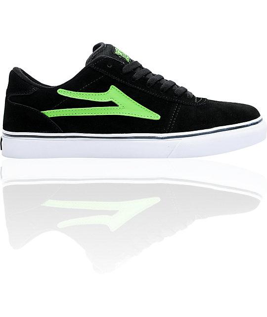Lakai Manchester Select Black & Lime Skate Shoes