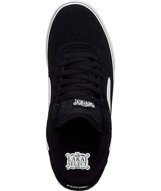 Lakai Manchester Select Black & White Shoes