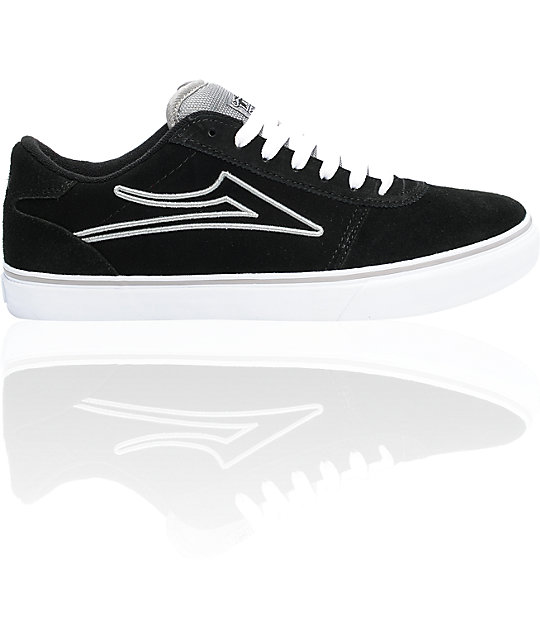 Lakai Manchester Select Black Suede & Grey Shoes