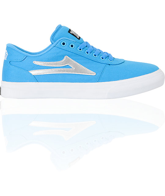 Lakai Manchester Select Blue & Silver Skate Shoes