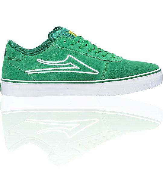 Lakai Manchester Select Green Suede Shoes