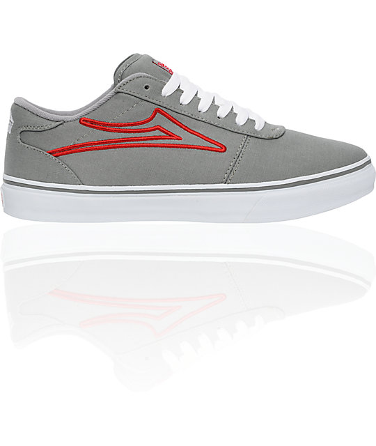 Lakai Manchester Select Grey Canvas Shoes