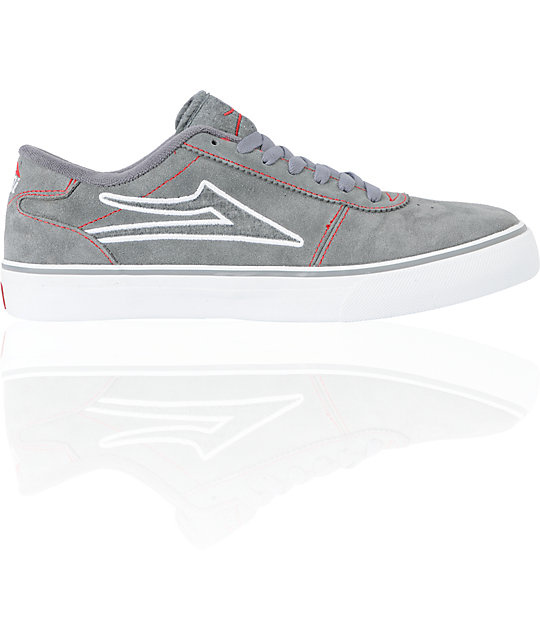 Lakai Manchester Select Grey Suede Skate Shoes