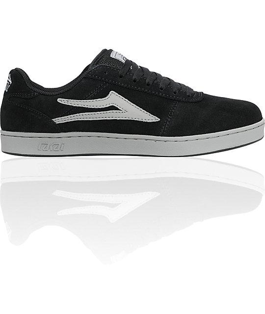 Lakai Manchester XLK Black & Grey Suede Shoes