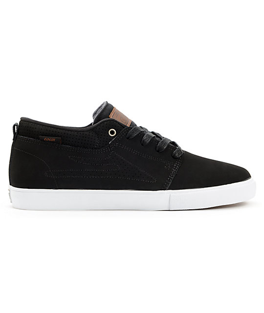 Lakai Marc Black Nubuck Skate Shoes