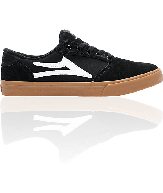 Lakai Pico Black & Gum Suede Skate Shoes