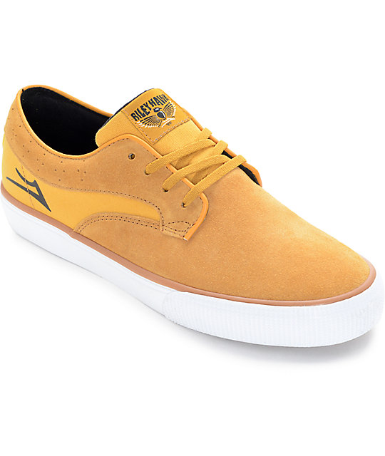 Lakai Riley Hawk Gold Suede Skate Shoes