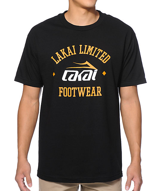 Lakai Squad Black & Orange T-Shirt