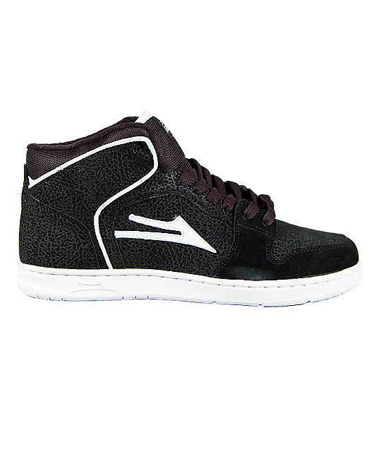 Lakai Telford Black Leather Shoes