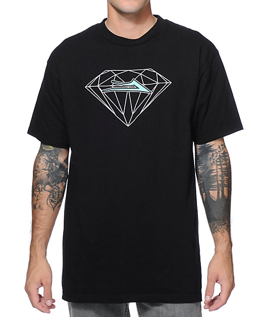 Lakai X Diamond Supply Co. Black & Mint T-Shirt