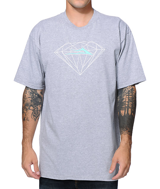 Lakai X Diamond Supply Co. Heather Grey & Mint T-Shirt