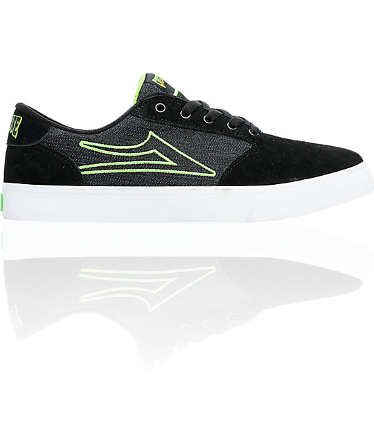 Lakai x Creature Pico Black Suede & Canvas Skate Shoes