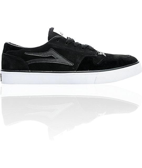 Lakai x Fourstar Carroll 5 Black Suede Skate Shoes