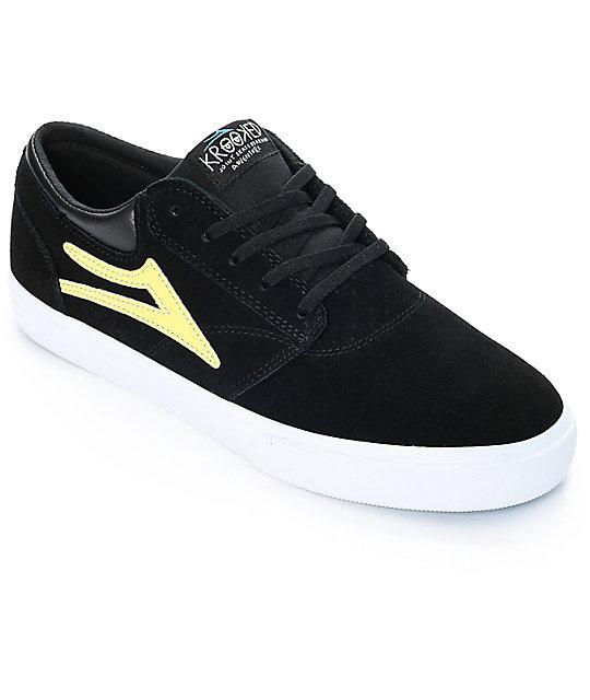 lakai skate shoes. lakai x krooked griffin black suede skate shoes zumiez