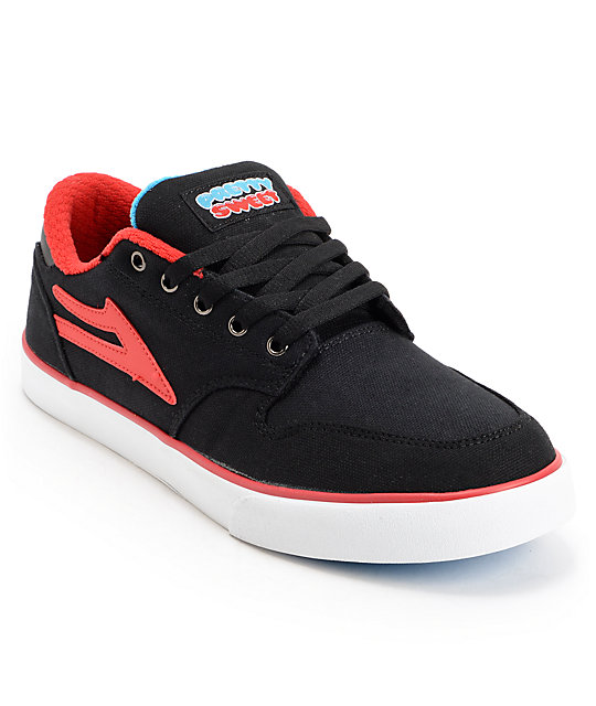 Lakai x Pretty Sweet Carroll 5 Black, Red, & White Skate Shoes