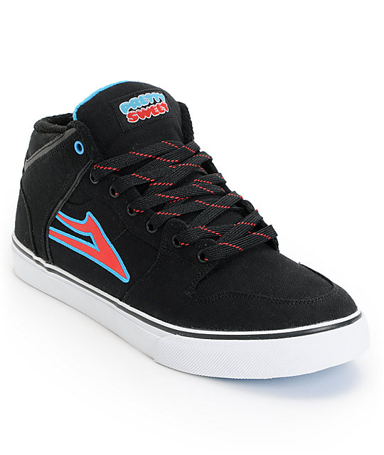 Lakai x Pretty Sweet Carroll Select Mid Black & White Skate Shoes