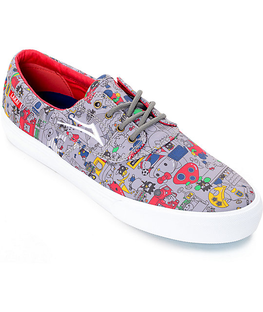 Lakai x hello sanrio Camby Grey Canvas Skate Shoes