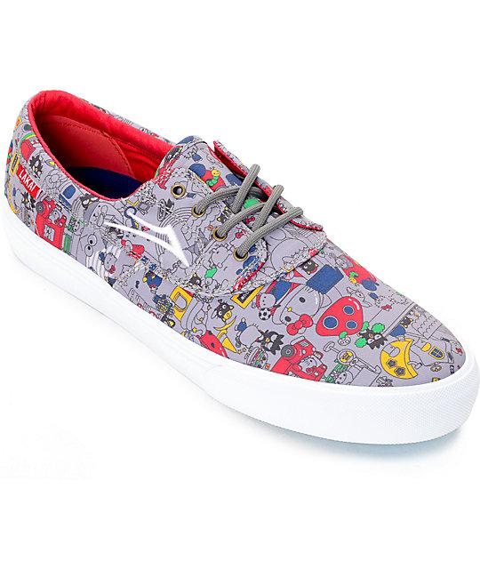 Lakai x hello sanrio Camby Grey Canvas Skate Shoes