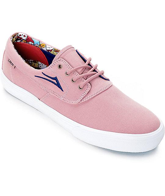 lakai x hello sanrio camby pink canvas skate shoes zumiez