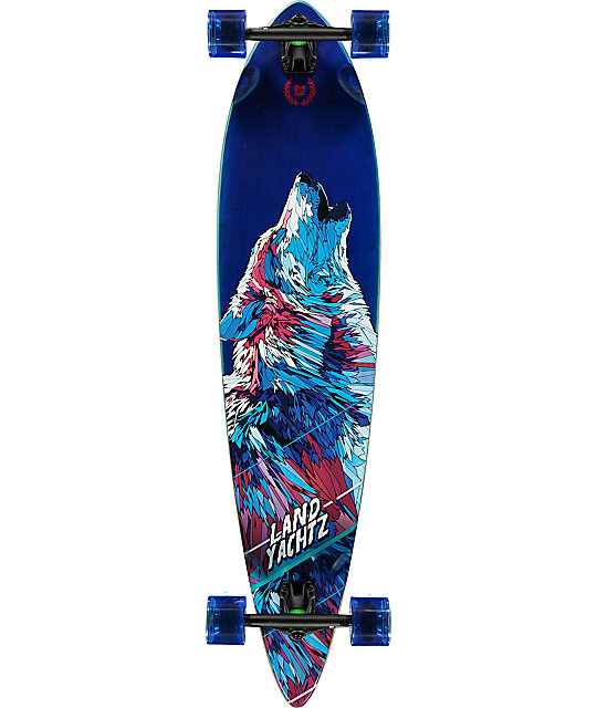 Landyachtz Bamboo Pinner Wolf 41 Quot Longboard Complete At