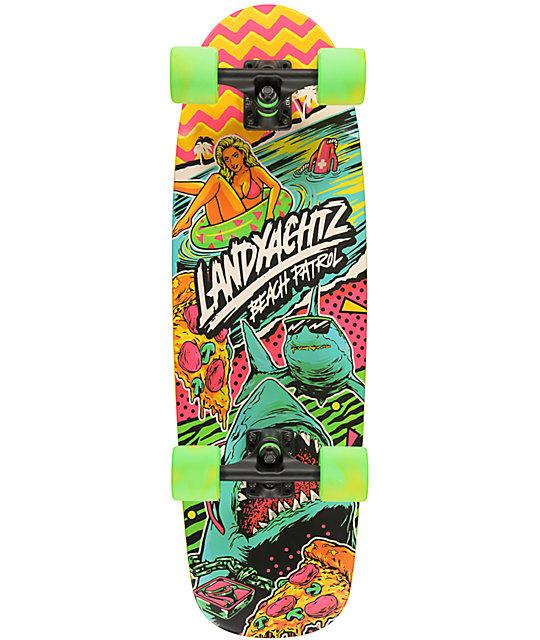 "Landyachtz Tug Boat Beach Patrol 30""  Cruiser Complete Skateboard"
