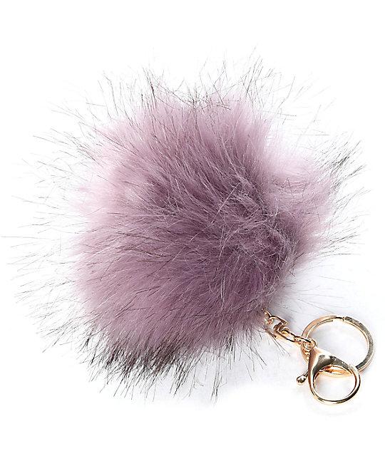 Lavender Fuzzy Bag Charm