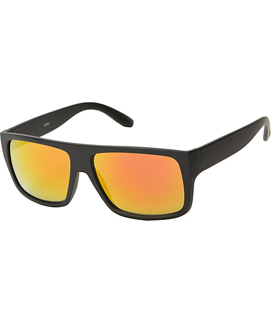 Orange Lense Sunglasses  lazer large black revo lens sunglasses at zumiez pdp