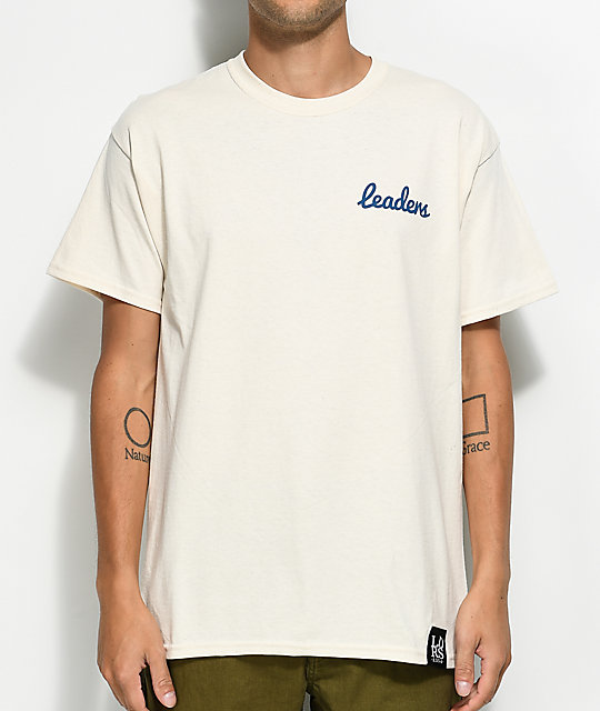 Leaders Cursive L Wing Off White T-Shirt