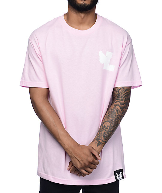 Leaders L Wing Pastel Pink T-Shirt