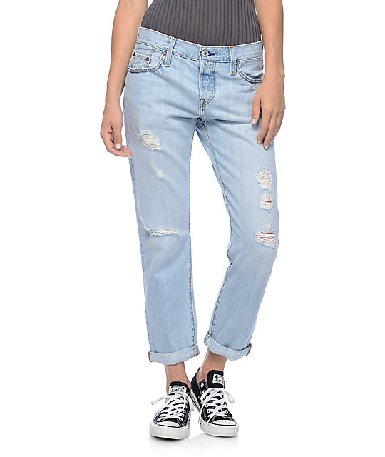 Levi's 501CT Light Destroyed Turbulent Jeans