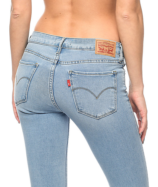 Levi's 711 Light Vintage Wash Skinny Jeans
