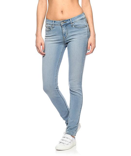 Levi's 711 Light Vintage Wash Skinny Jeans