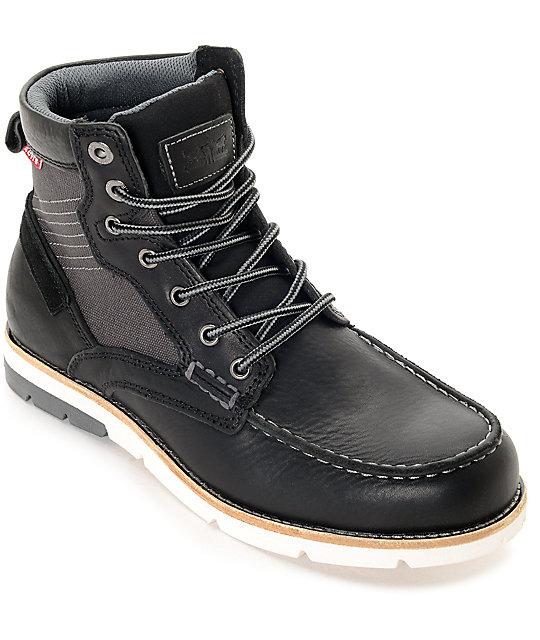 Levi's Dawson Black & Charcoal Boots
