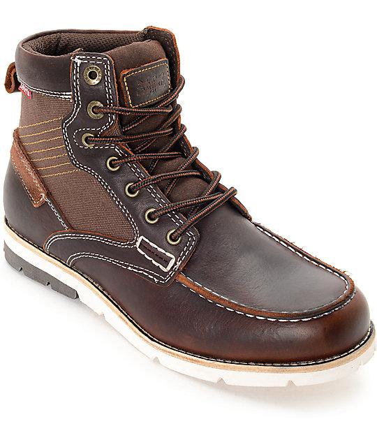 Levi's Dawson Burgundy & White Boots