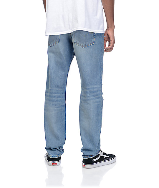 Levi's Razza Ripped Medium Blue 502 Jeans