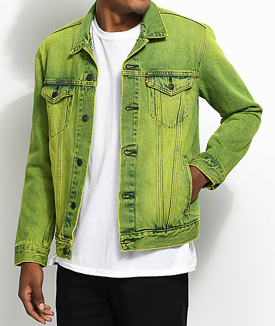 Levi's The Trucker Neon Green Denim Jacket | Zumiez