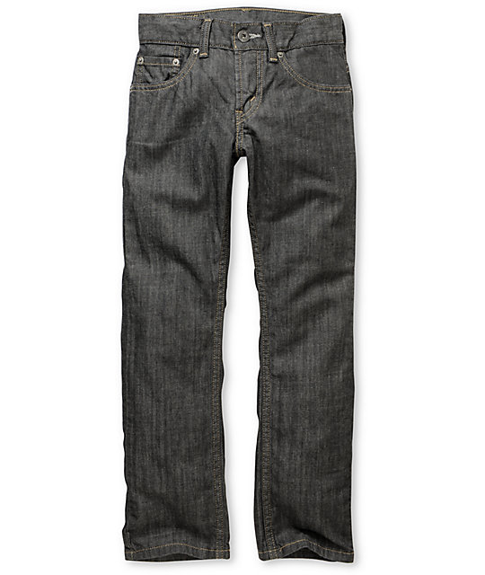 Levis 511 Boys Dark Grey Rigid Skinny Jeans