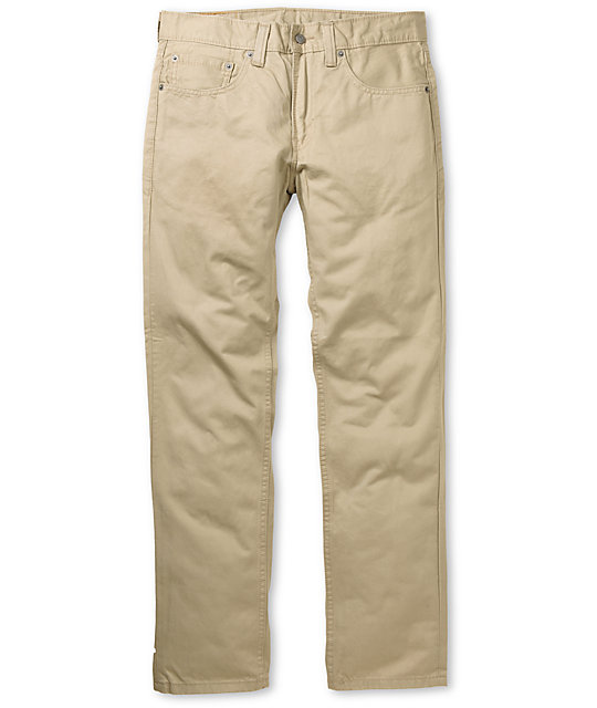Levis 511 Chinchilla Khaki Twill Skinny Fit Pants